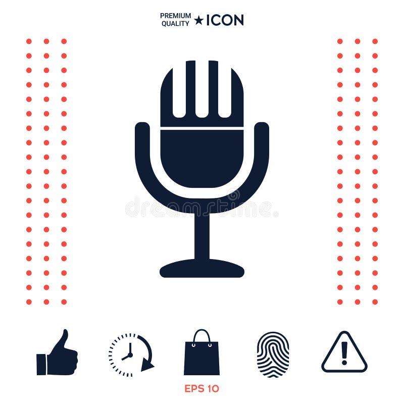 Download Icona D'annata Di Simbolo Del Microfono Illustrazione Vettoriale - Illustrazione di illustrazione, karaoke: 117977507