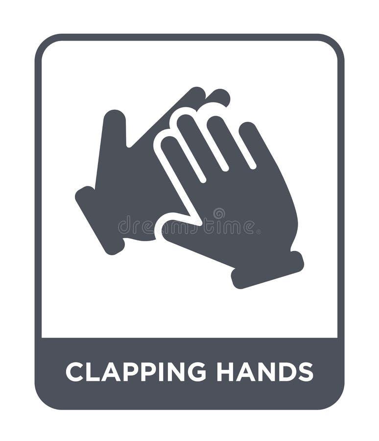 icona d'applauso delle mani nello stile d'avanguardia di progettazione icona d'applauso delle mani isolata su fondo bianco icona  illustrazione vettoriale