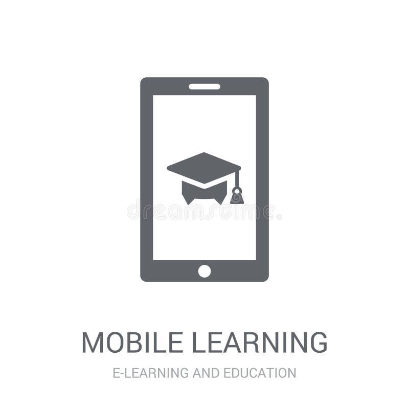 icona d'apprendimento mobile  royalty illustrazione gratis