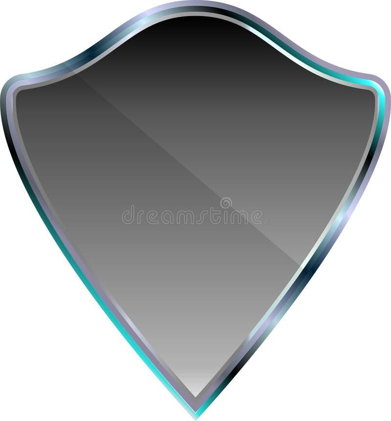Icona d'argento di vettore dello schermo metallico royalty illustrazione gratis