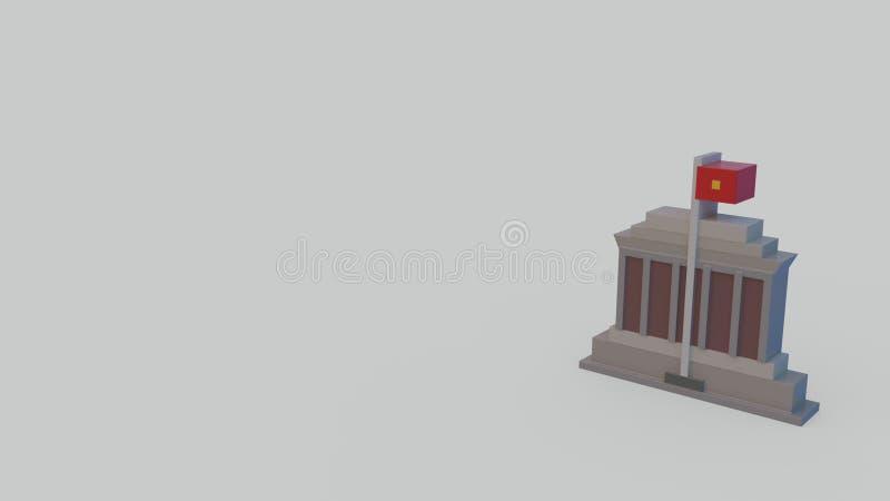 icona 3d del mausoleo ming di 'chi' noioso illustrazione vettoriale
