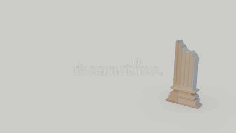 icona 3d del torso della colonna di Grecia antica royalty illustrazione gratis