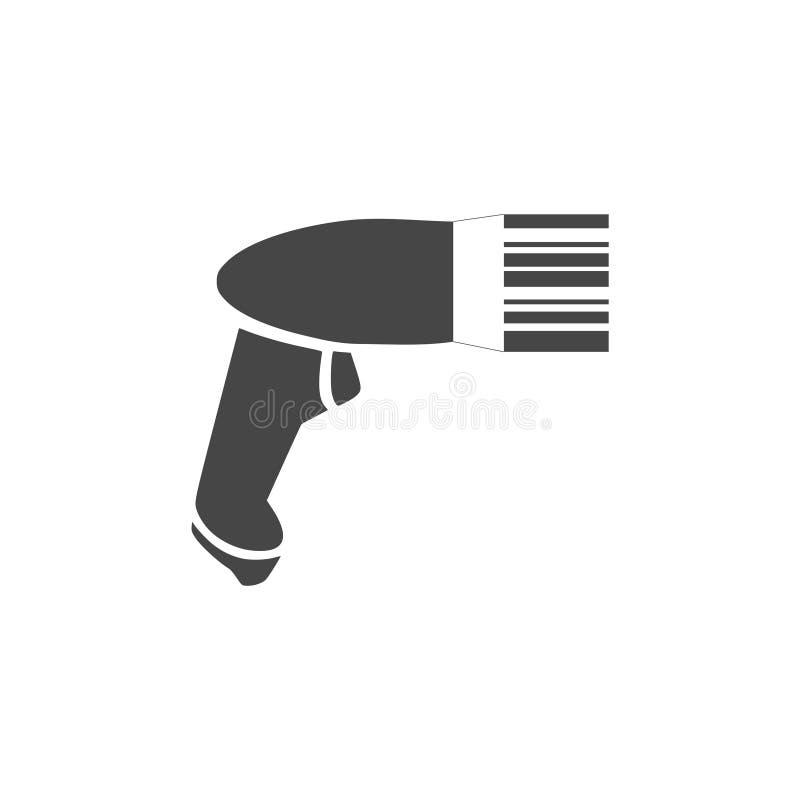 Icona d'esplorazione di codice a barre del lettore di codici a barre illustrazione di stock