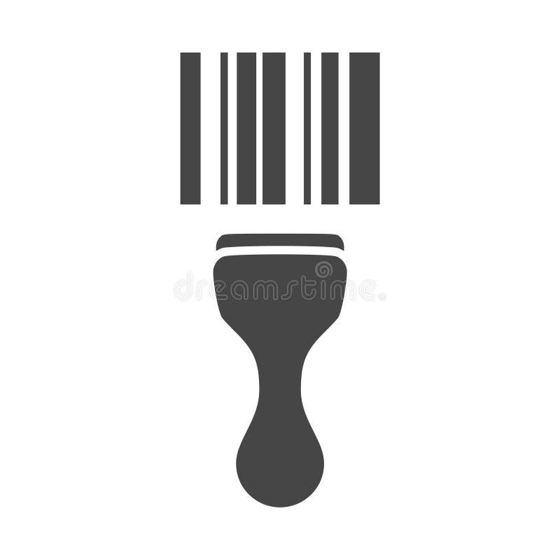 Icona d'esplorazione di codice a barre del lettore di codici a barre royalty illustrazione gratis