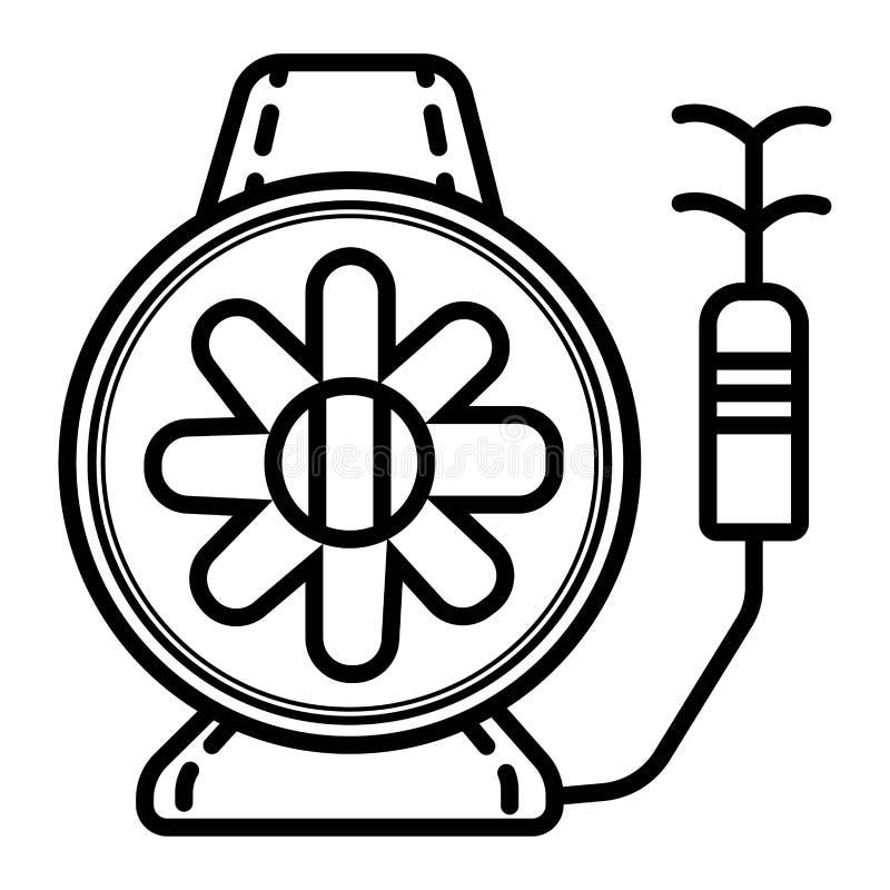 Icona d'innaffiatura del tubo flessibile illustrazione vettoriale