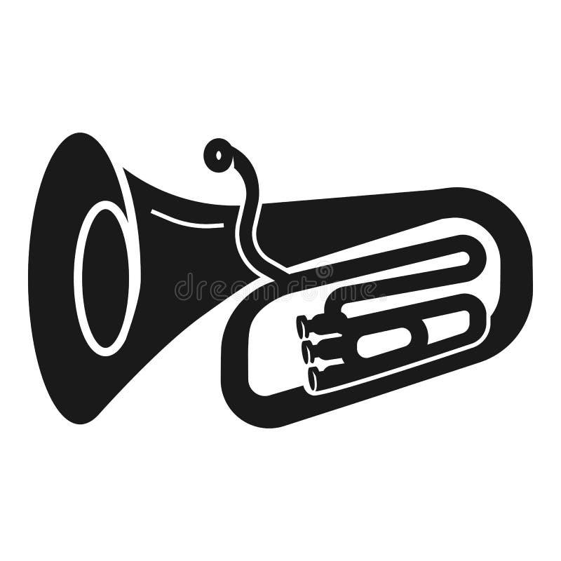 Icona d'ottone della tromba, stile semplice illustrazione vettoriale