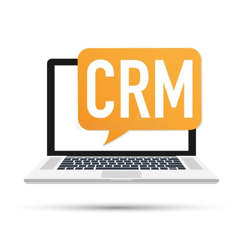 Icona da tavolino del sistema di CRM Commercio e finanze Illustrazione di vettore illustrazione di stock