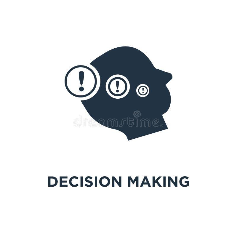 Icona decisionale scelta difficile, progettazione di simbolo di concetto di neurologia, dilemma morale, pensatore di filosofia, s illustrazione vettoriale