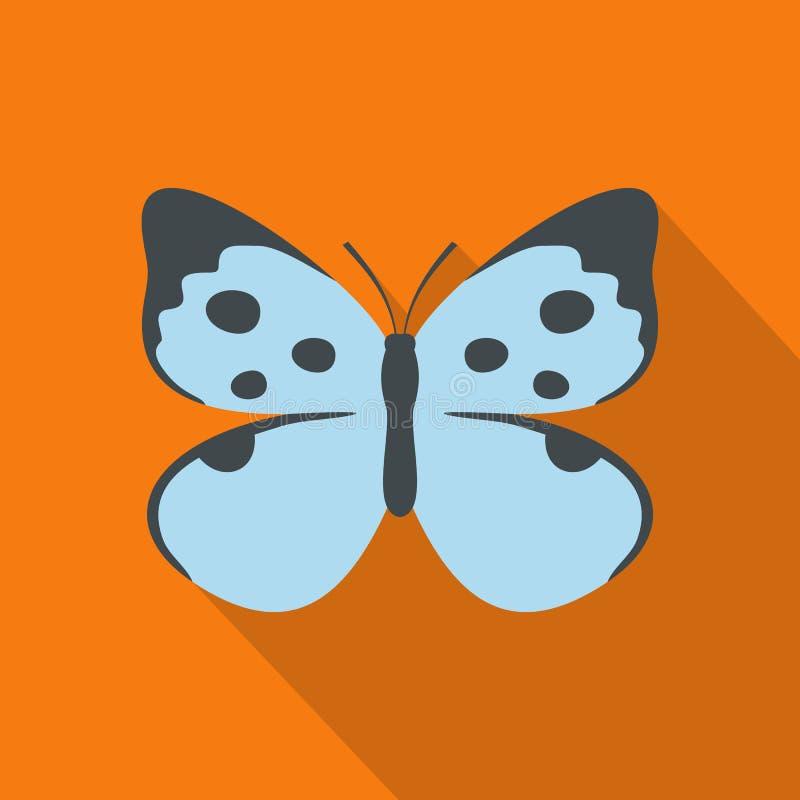 Icona decorativa della farfalla, stile piano illustrazione vettoriale