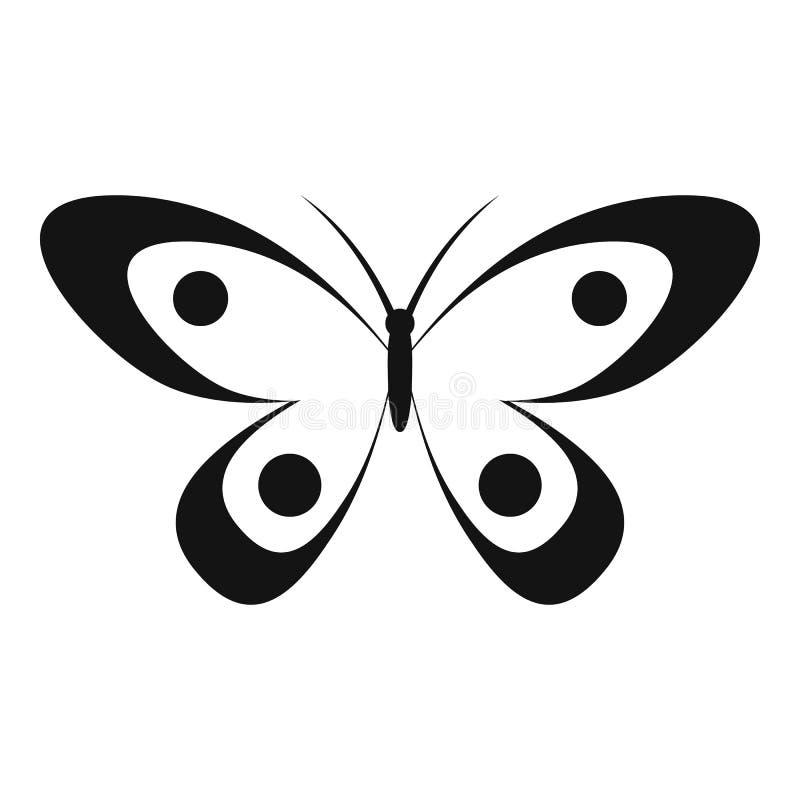 Icona decorativa della farfalla, stile semplice illustrazione vettoriale