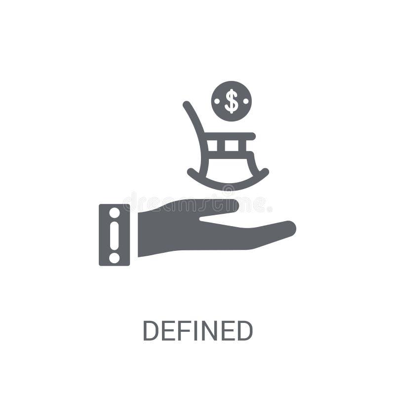Icona definita di pensione di contributo  illustrazione vettoriale