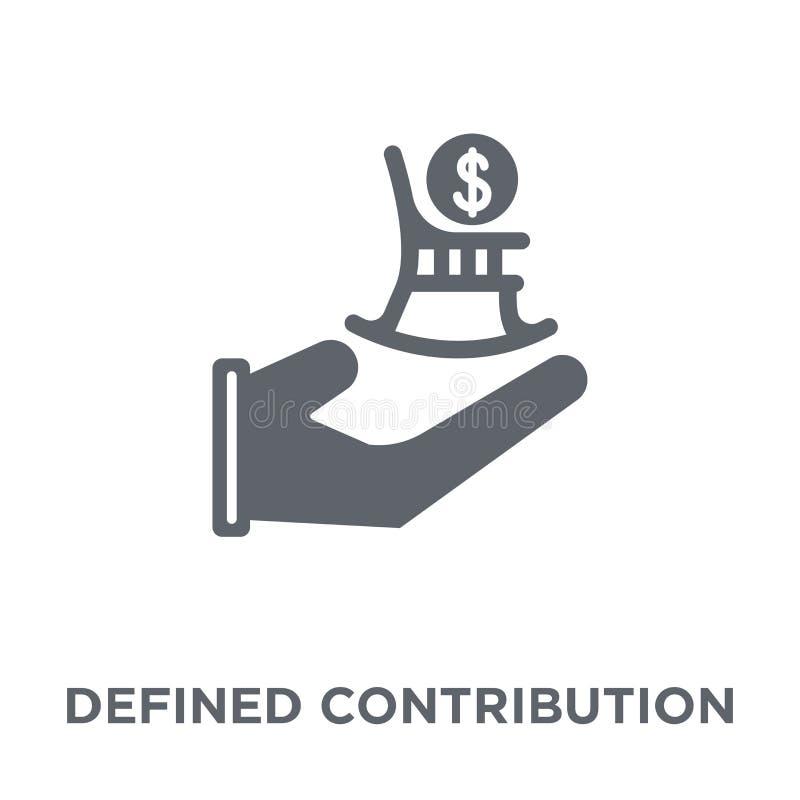 Icona definita di pensione di contributo dalle penne definite di contributo royalty illustrazione gratis