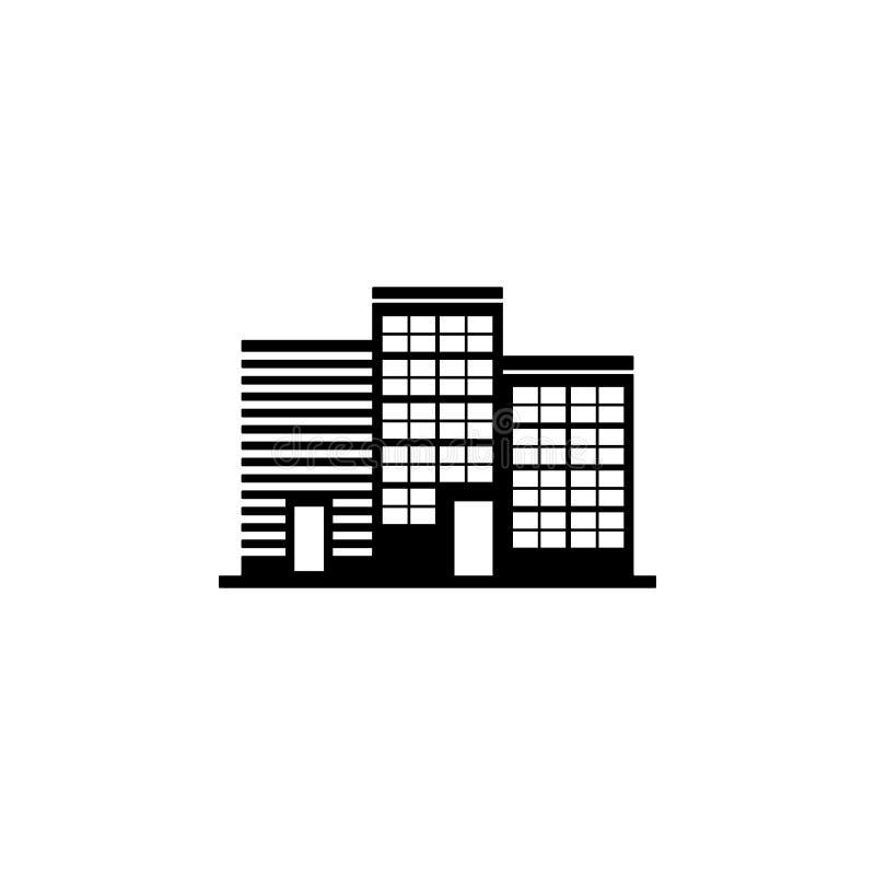 icona degli edifici per uffici Elemento dell'icona della costruzione per i apps mobili di web e di concetto L'icona dettagliata d illustrazione di stock