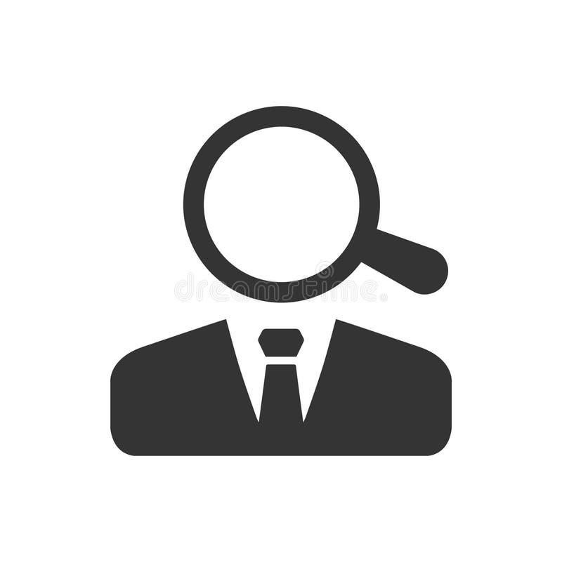 Icona degli impiegati del ritrovamento illustrazione di stock