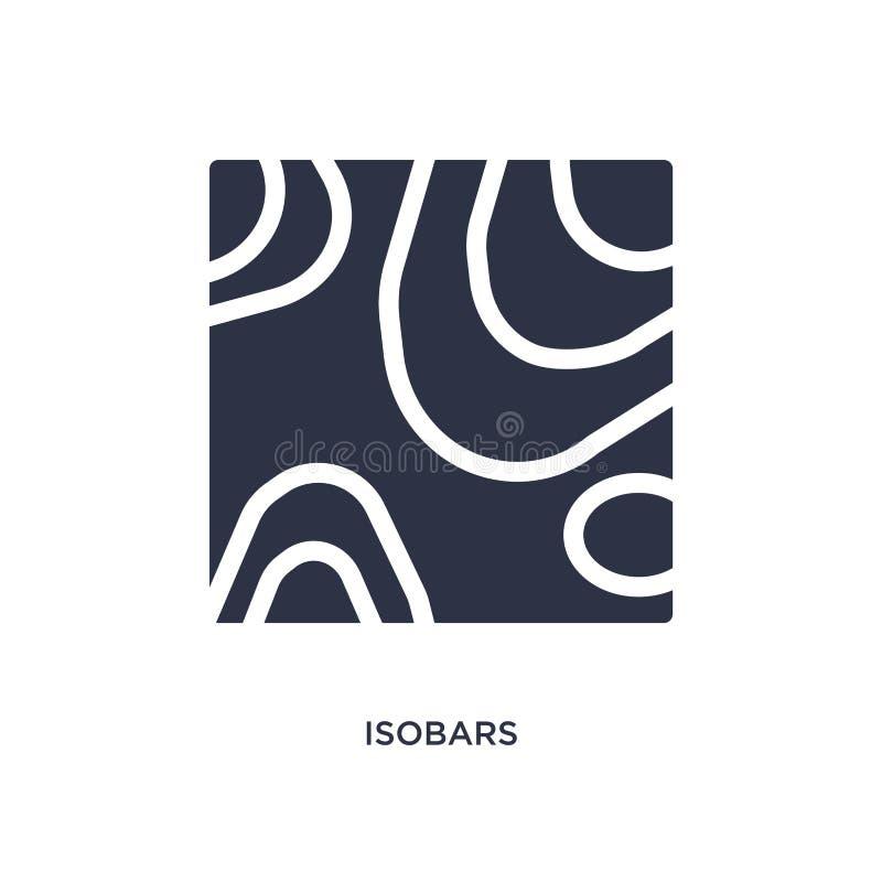 icona degli isobari su fondo bianco Illustrazione semplice dell'elemento dal concetto del tempo royalty illustrazione gratis
