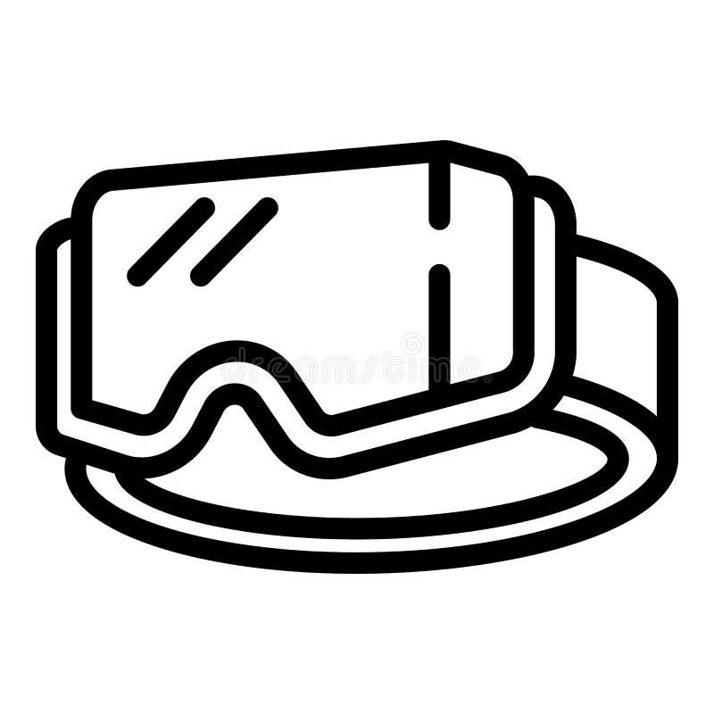 Icona degli occhiali di protezione dello sci, stile del profilo illustrazione vettoriale