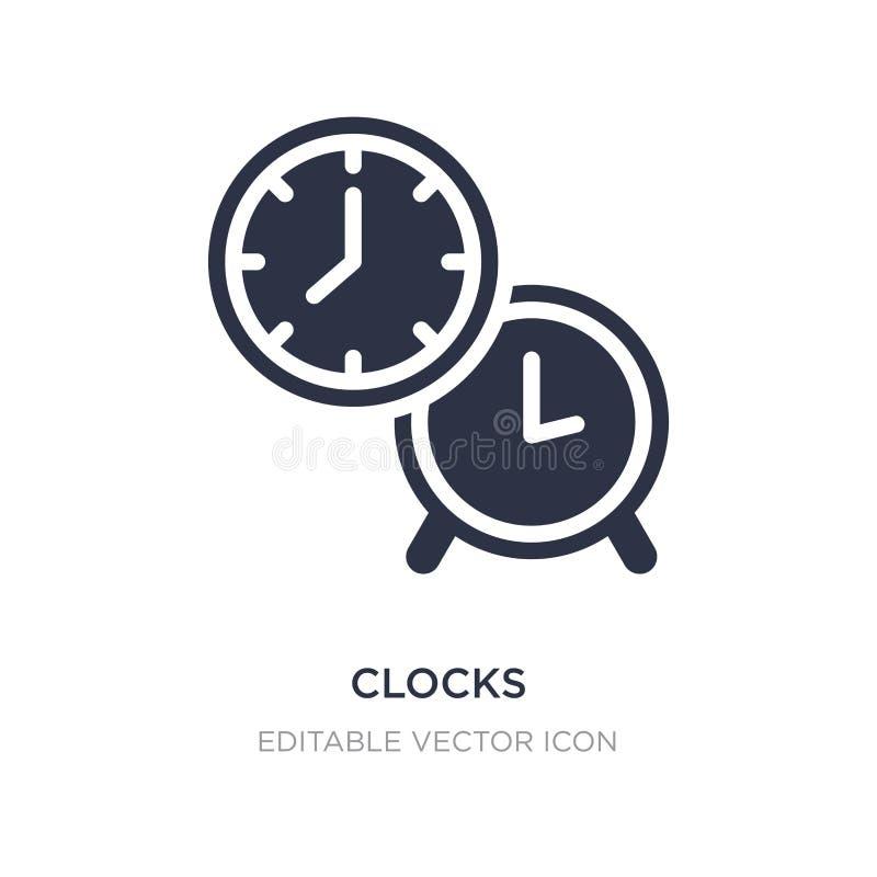 icona degli orologi su fondo bianco Illustrazione semplice dell'elemento dal concetto degli utensili e degli strumenti illustrazione vettoriale