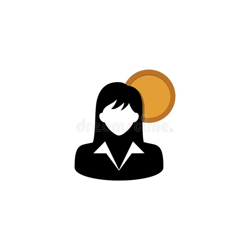 Icona degli stipendi degli impiegati illustrazione di stock