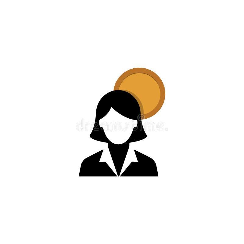 Icona degli stipendi degli impiegati illustrazione vettoriale