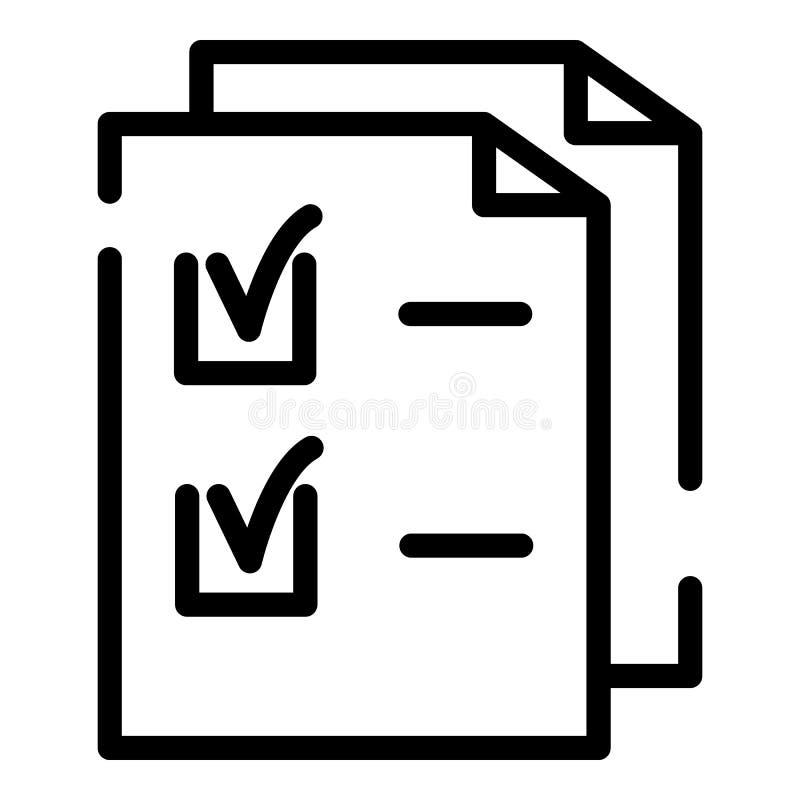 Icona degli strati del controllo, stile del profilo illustrazione vettoriale