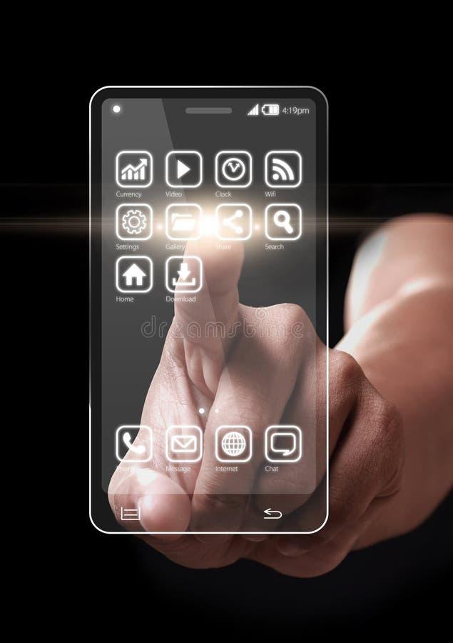 Icona dei apps di Smartphone immagini stock