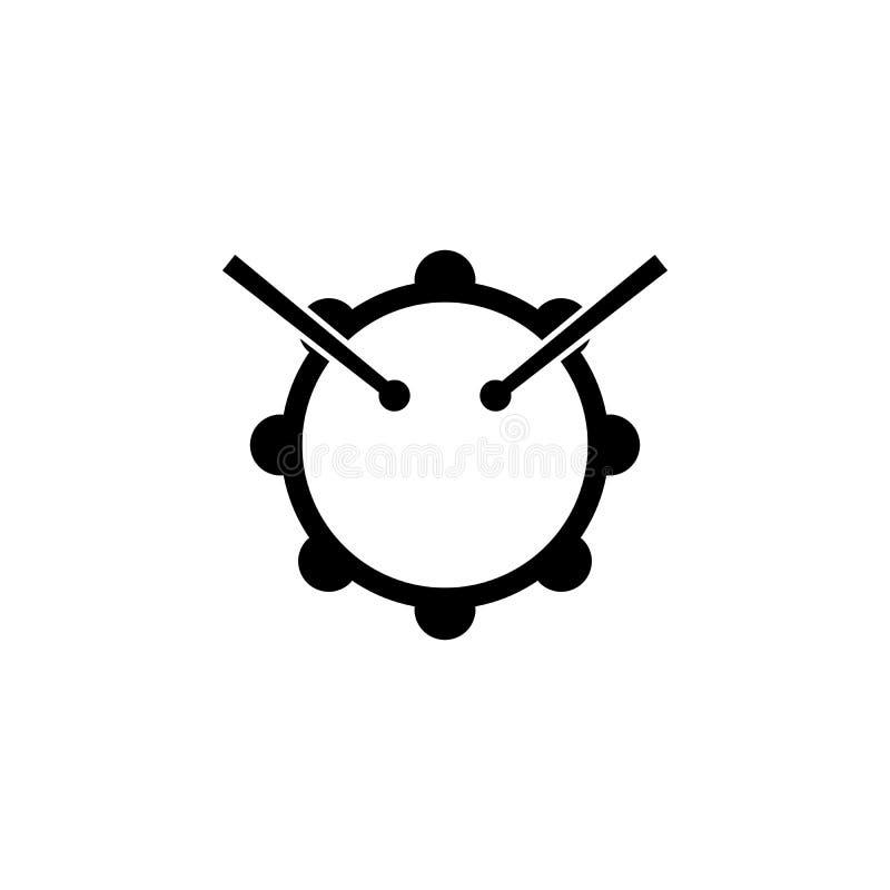 icona dei bastoni e del tamburo Elemento dell'icona di musica Icona premio di progettazione grafica di qualità Segni ed icona del illustrazione vettoriale