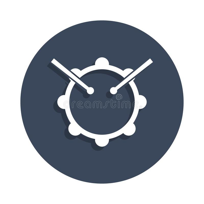 icona dei bastoni e del tamburo nello stile del distintivo Uno dell'icona della raccolta di musica può essere usato per UI, UX illustrazione vettoriale
