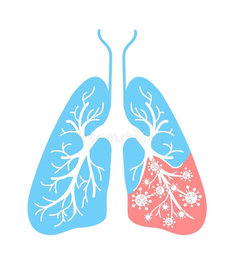 Icona dei batteri di affezione polmonare royalty illustrazione gratis