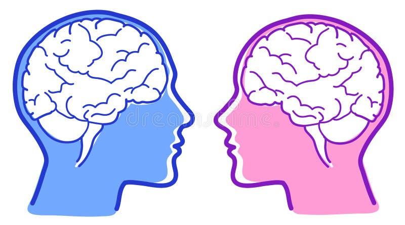 Icona dei cervelli di vettore illustrazione vettoriale