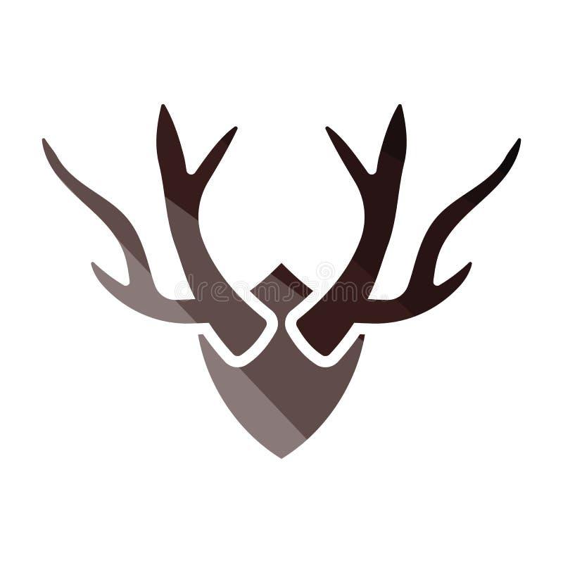 Icona dei corni del ` s dei cervi royalty illustrazione gratis
