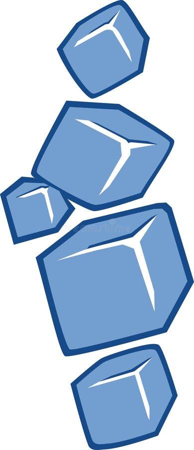 icona dei cubetti di ghiaccio royalty illustrazione gratis