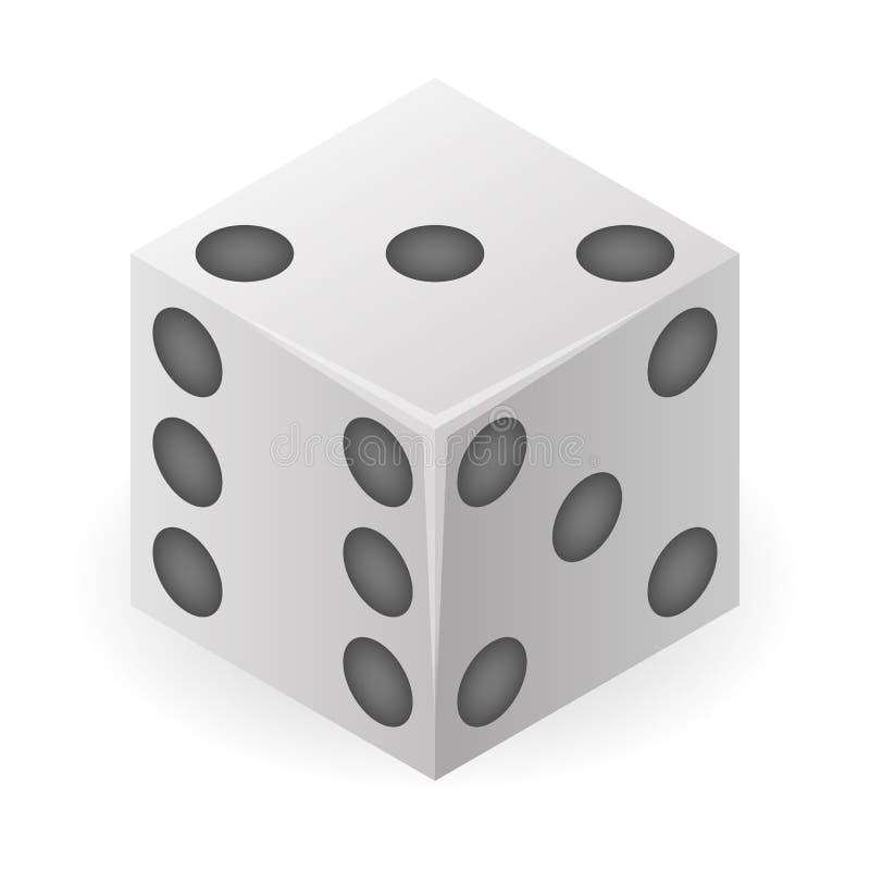 Icona dei dadi del giocattolo, stile isometrico illustrazione vettoriale