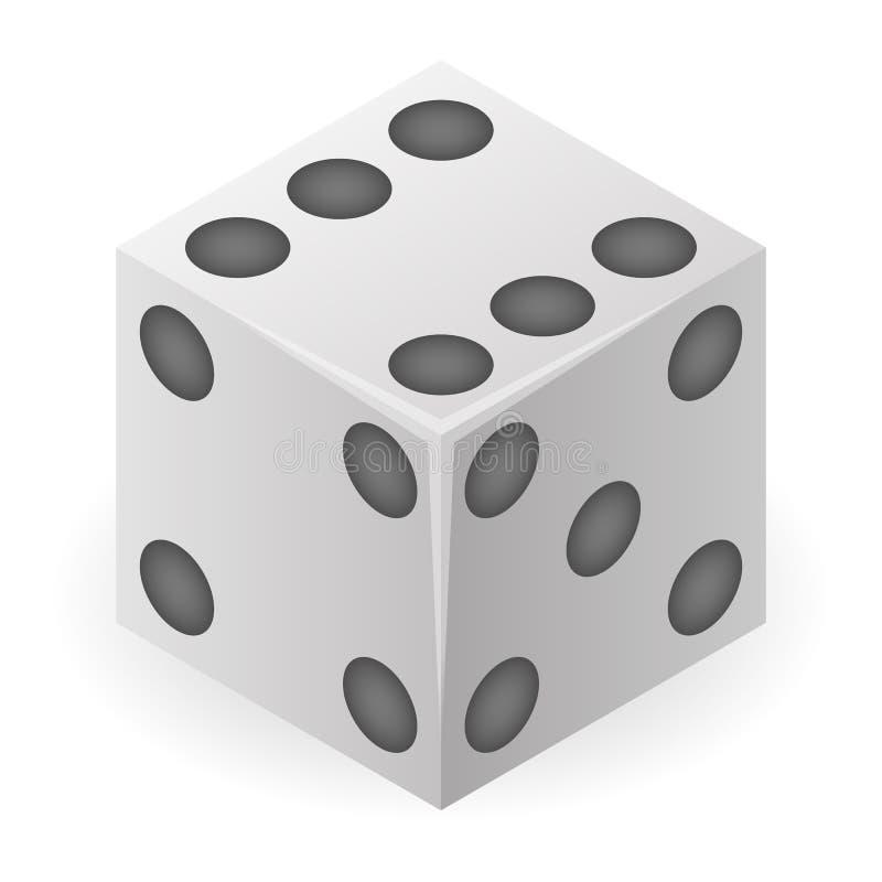 Icona dei dadi di rischio, stile isometrico illustrazione di stock