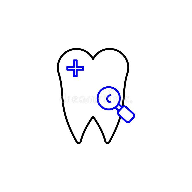 Icona dei denti Elemento dell'icona medica per i apps mobili di web e di concetto L'icona dettagliata dei denti può essere usata  royalty illustrazione gratis