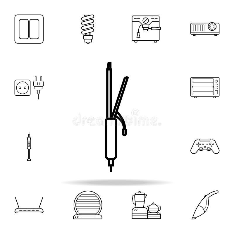 icona dei ferri di arricciatura Insieme universale delle icone degli apparecchi per il web ed il cellulare illustrazione vettoriale