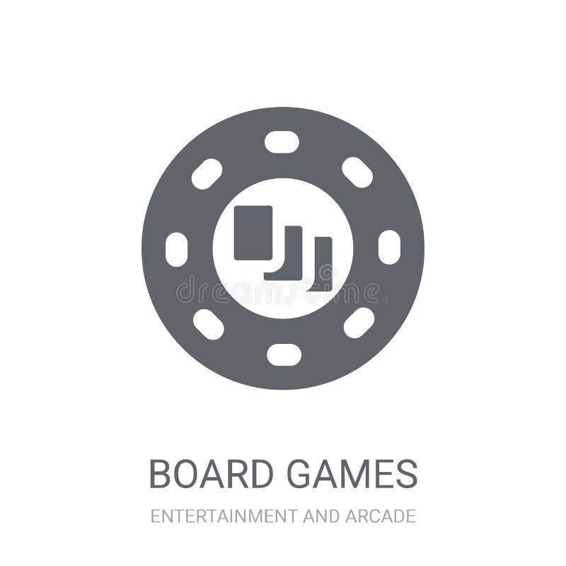 Icona dei giochi da tavolo  illustrazione di stock