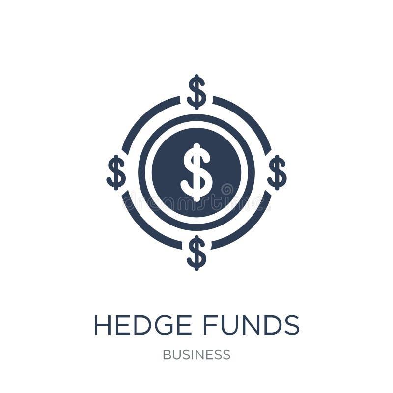 Icona dei hedge fund Icona piana d'avanguardia dei hedge fund di vettore sulla b bianca royalty illustrazione gratis