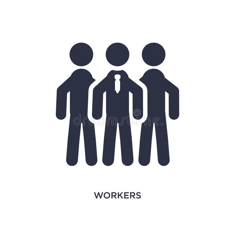 icona dei lavoratori su fondo bianco Illustrazione semplice dell'elemento dal concetto di strategia illustrazione vettoriale