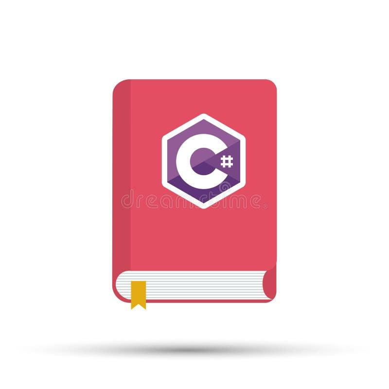Icona dei libri sulla programmazione Un libro sul linguaggio di programmazione di C illustrazione vettoriale