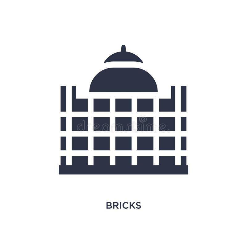 icona dei mattoni su fondo bianco Illustrazione semplice dell'elemento dal concetto di storia illustrazione di stock