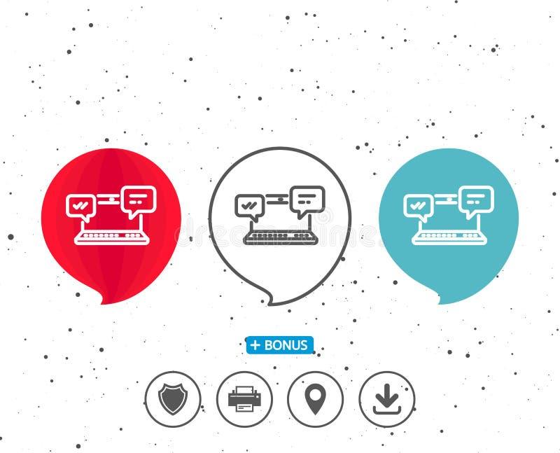 Icona dei messaggi di Internet Chiacchierata o conversazione illustrazione vettoriale