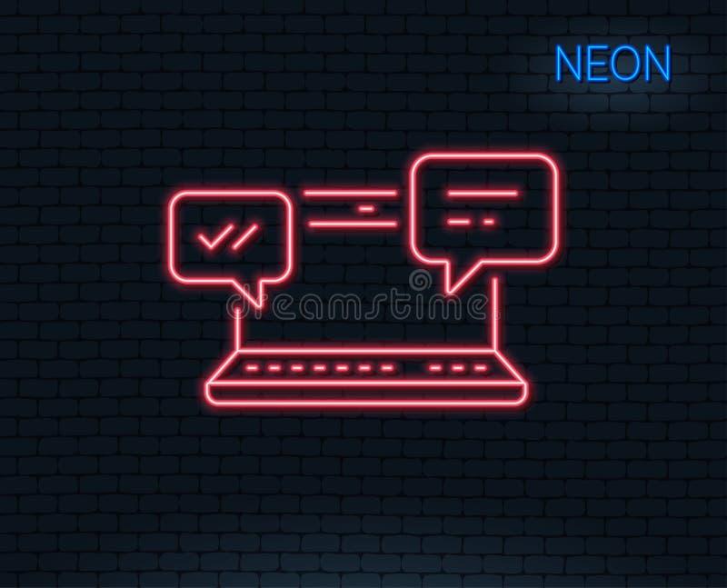 Icona dei messaggi di Internet Chiacchierata o conversazione illustrazione di stock