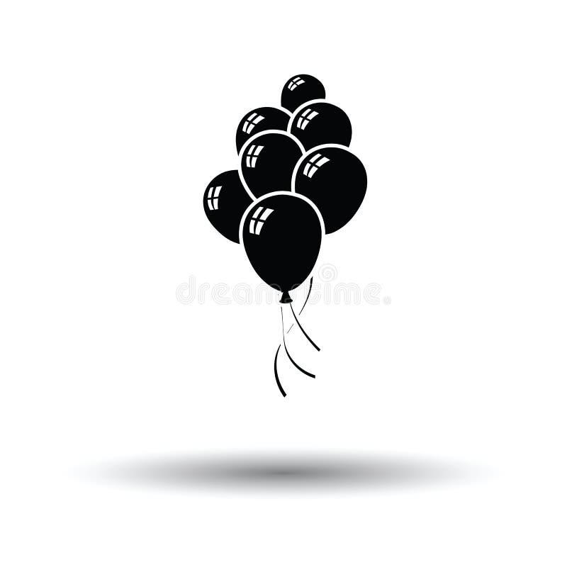 Icona dei palloni e delle stelle del partito royalty illustrazione gratis