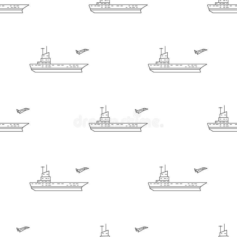 icona dei portaerei Elemento dell'icona dell'esercito per i apps mobili di web e di concetto Icona senza cuciture dei portaerei d royalty illustrazione gratis