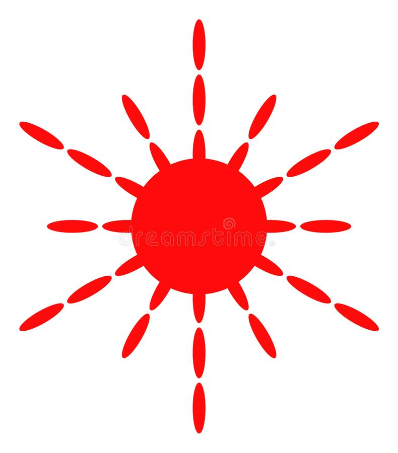 Icona dei raggi di Sun di vettore royalty illustrazione gratis