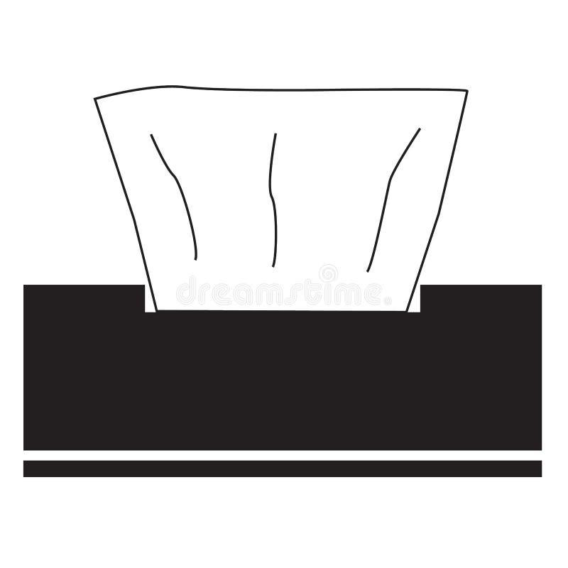 Icona dei tovaglioli su fondo bianco icona per la vostra progettazione del sito Web, logo, app, UI dei tovaglioli simbolo del tov illustrazione vettoriale