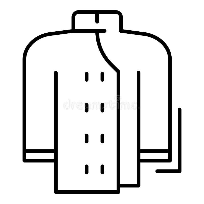 Icona dei vestiti del fornello, stile del profilo illustrazione di stock