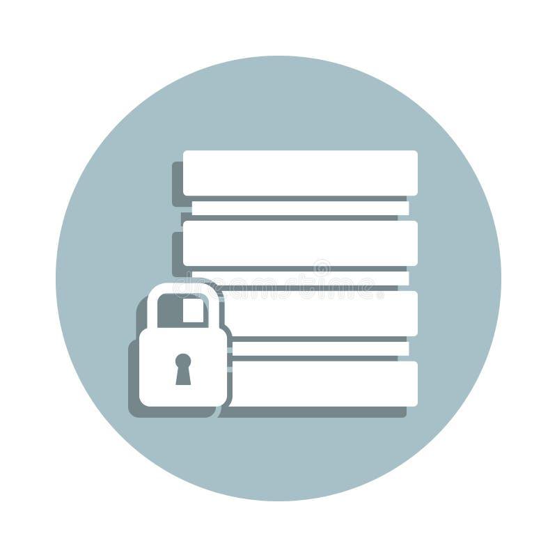 Icona del badge di sicurezza database Gglifo semplice, vettore piatto di icone gdpr per ui e ux, sito Web o applicazione mobile royalty illustrazione gratis