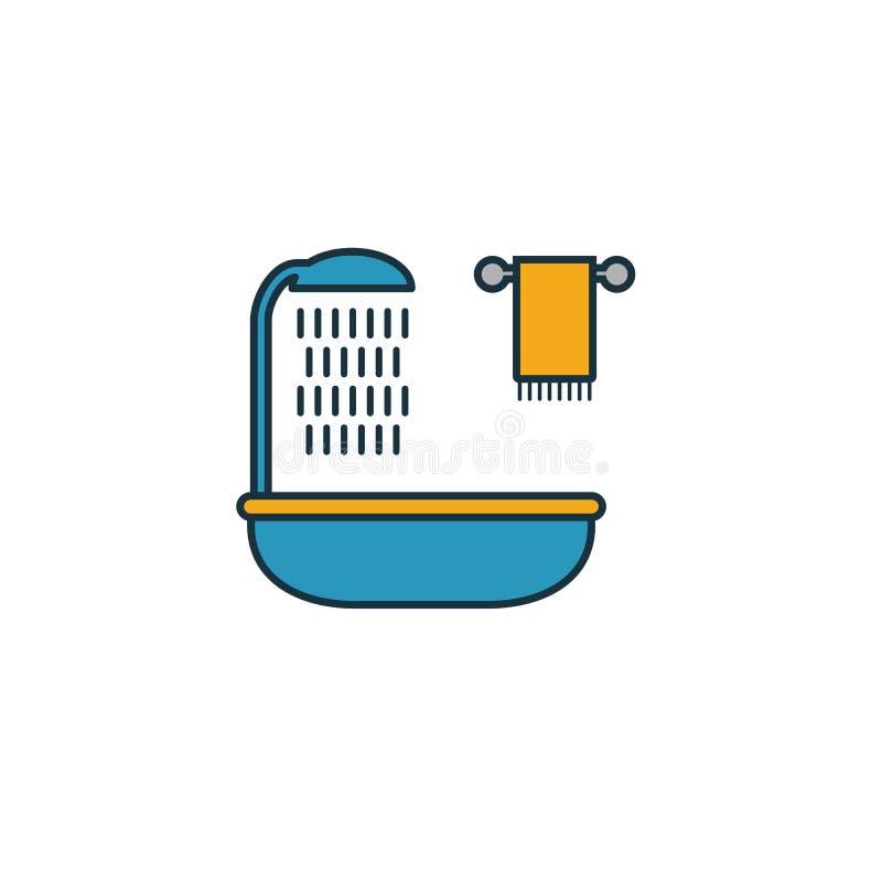 Icona del bagno Elemento semplice dell'insieme delle icone immobiliari Icona Creative Bathroom ui, ux, app, software e infografic illustrazione di stock