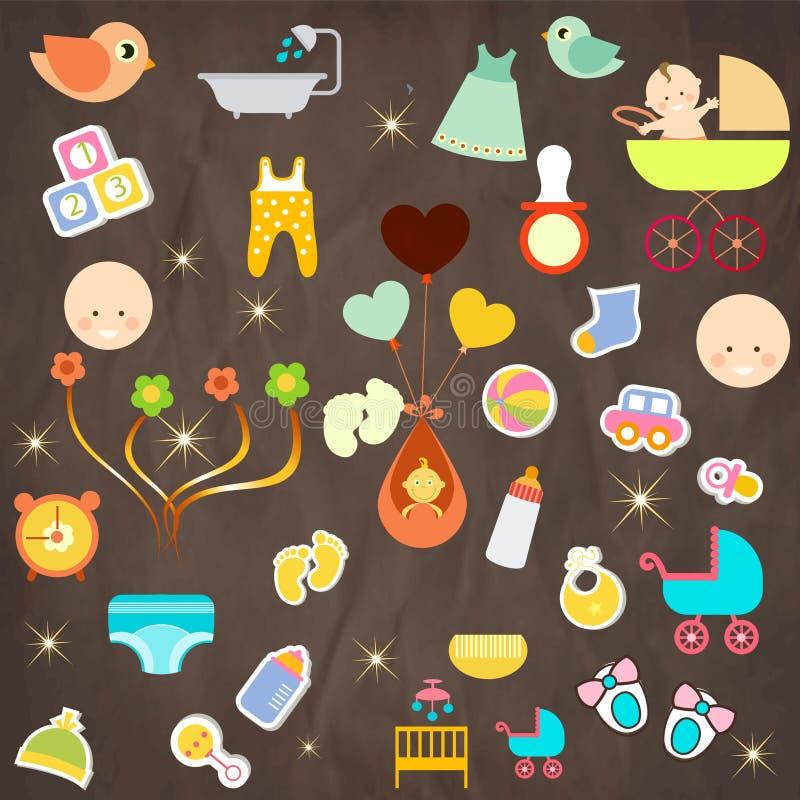 Icona del bambino immagini stock